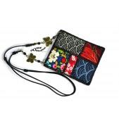 Collier en tissi liberty, collier en tissu japonais,collier patchwork