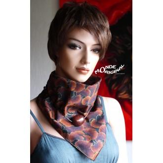 Mini foulard bandana en tissu japonais, écharpe collier en tissu japonais