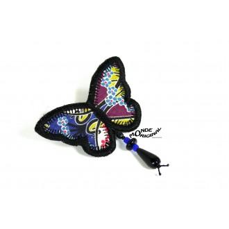 Broche papillon en tissu Liberty