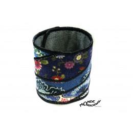 Bracelet en tissu brodé, bracelet textile